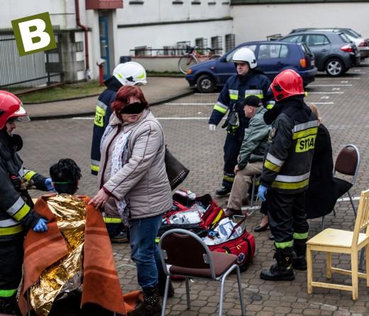 Ewakuacja w budynku szpitala Rehabilitacyjnego w Białogardzie - ZDJĘCIA