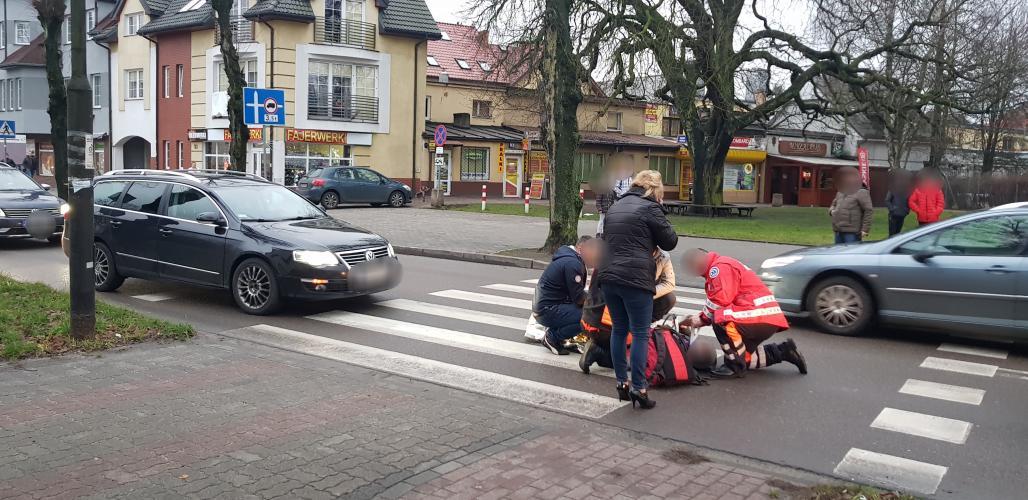 Potrącenie na przejściu dla pieszych w centrum Białogardu!