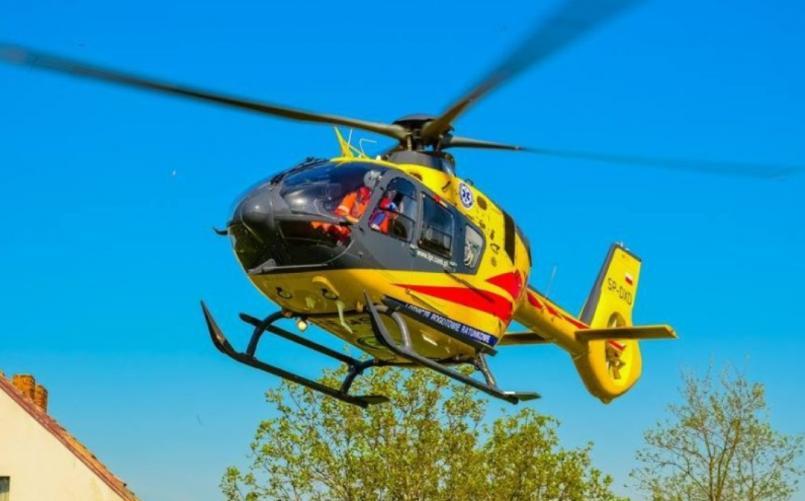 Poważny wypadek pod Karlinem! 16 latka w ciężkim stanie przetransportowana przez LPR.