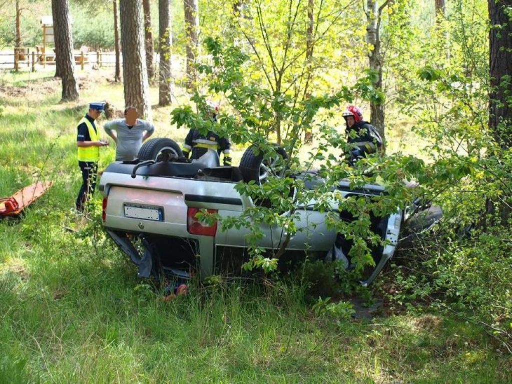 Wypadek koło Moczyłek