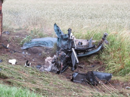 Wypadek koło Karlinka