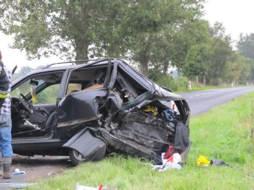 Wypadek koło Lulewic