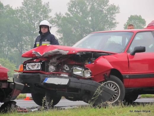 Poważny wypadek na drodze Białogard - Karlino