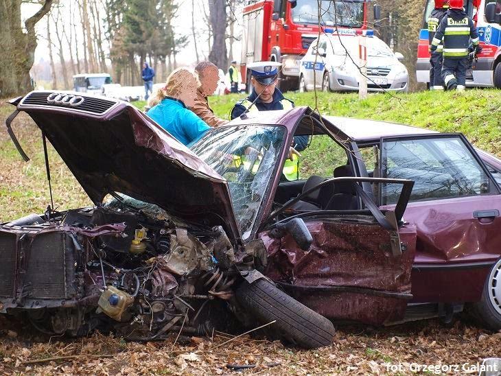 Groźny wypadek pod Białogardem.