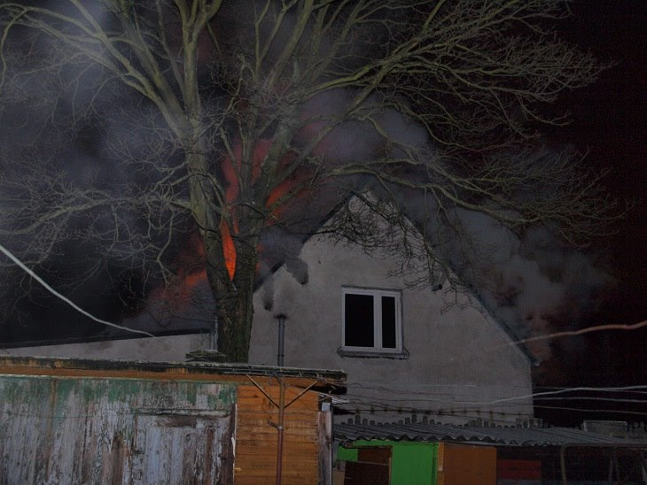 Pożar w Białogardzie przy ul. Zwycięstwa.