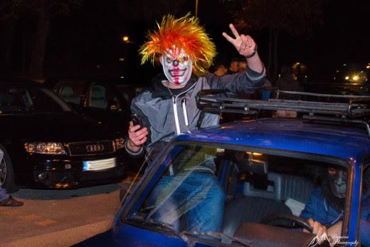 Spotkanie miłośników motoryzacji w stylu Halloween