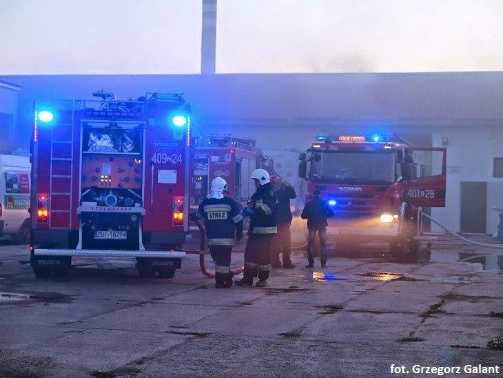 Pożar hali magazynowej w Białogardzie