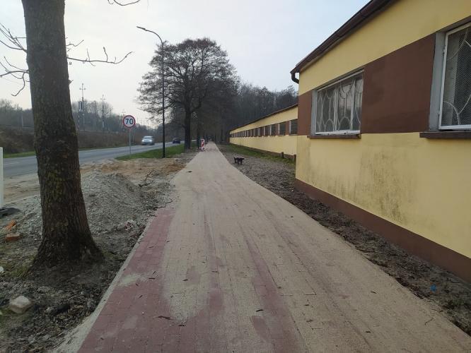 Budowa ścieżki rowerowej do Osiedla Olimpijczyków.