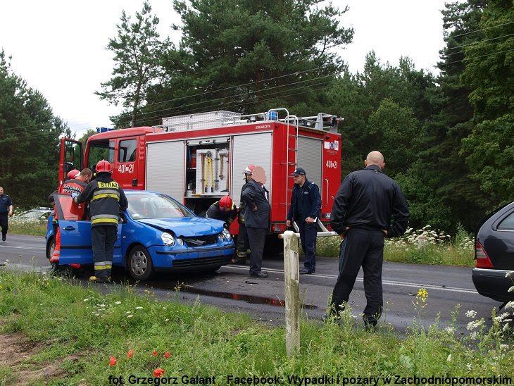 Wypadek na przejeżdzie kolejowym w Moczyłkach