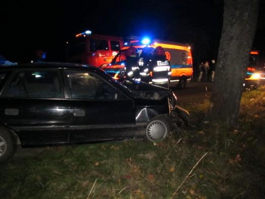 Wypadek na drodze Białogard - Stanomino ZDJĘCIA