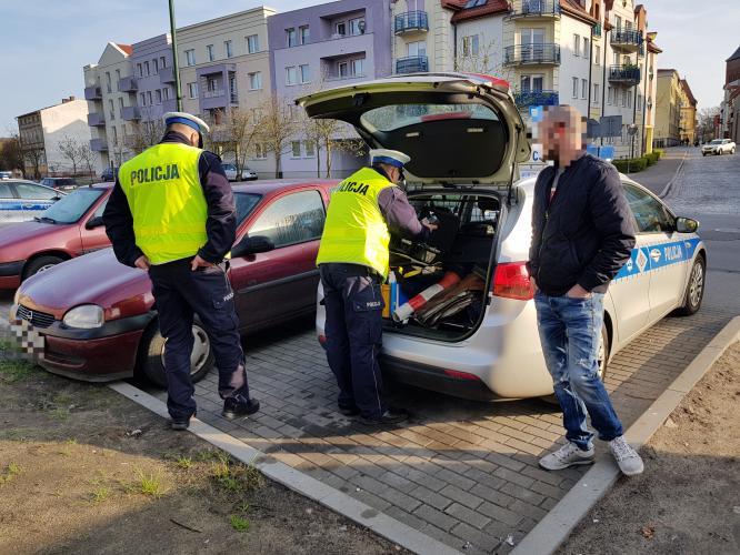 Akcja trzeźwość w Białogardzie  - 27 latek wydmuchał 1,5 promila.