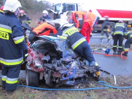 Wypadek koło Karlina - ZDJECIA