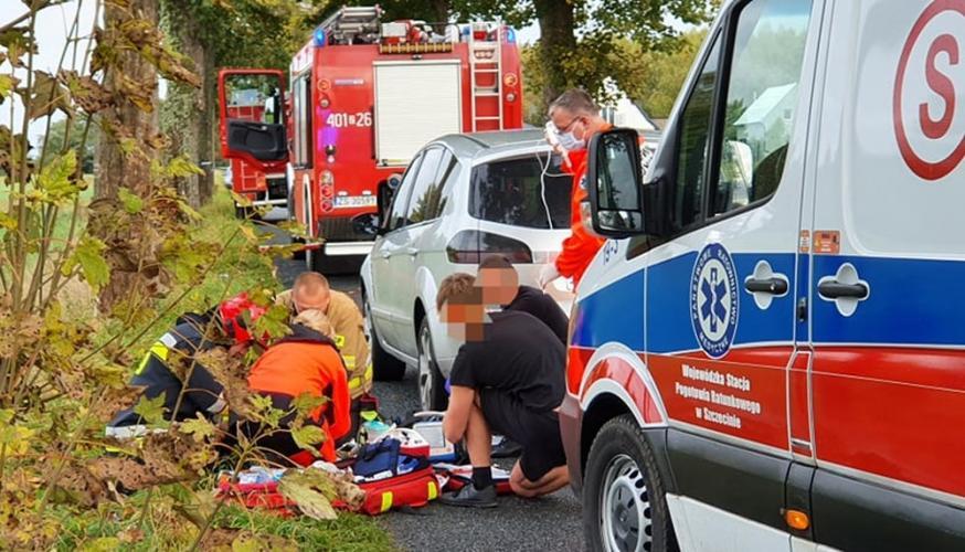 Wypadek drogowy pod Białogardem