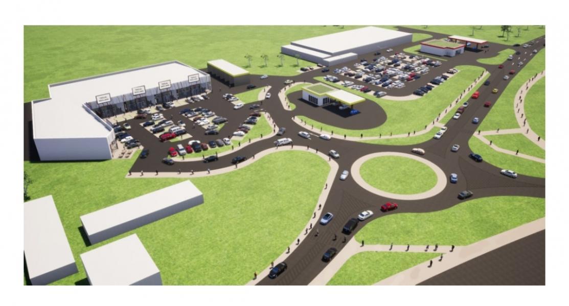 Budowa parku handlowego w Białogardzie - tak będzie wyglądać okolica.