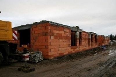 Mieszkania komunalne - budowa w trakcie.