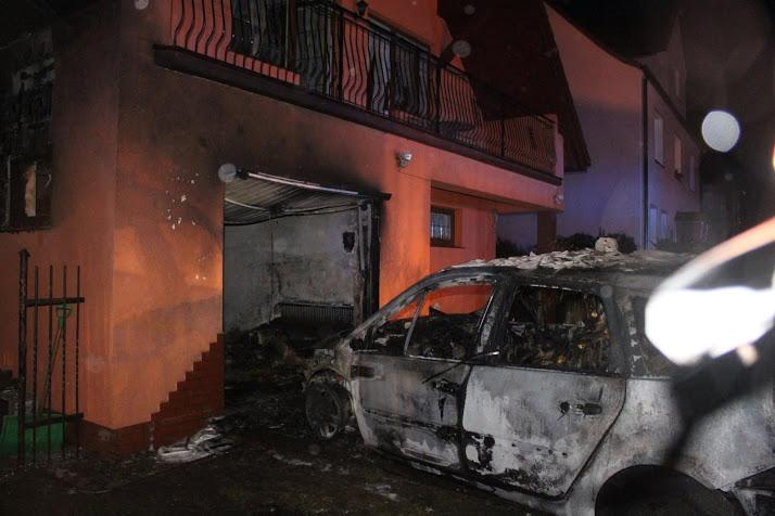Podpalił samochód bo pokłócił się z żoną.