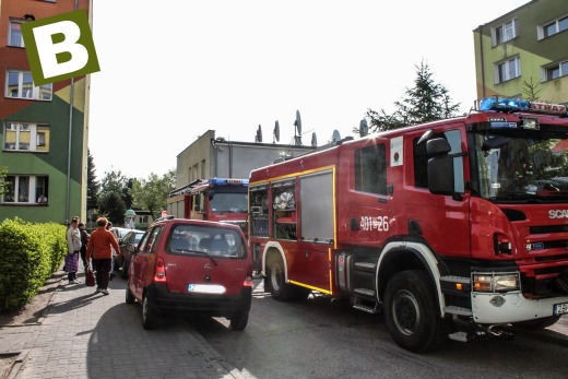 Pożar mieszkania w Białogardzie