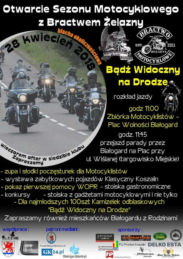 Otwarcie sezonu motocyklowego z Bractwem Żelazny