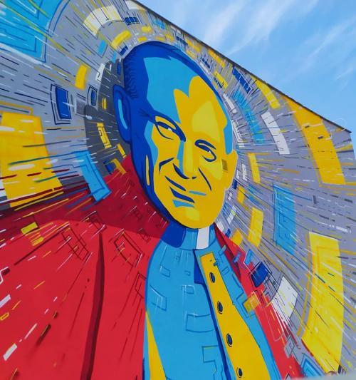 Mural Jana Pawła II w Białogardzie