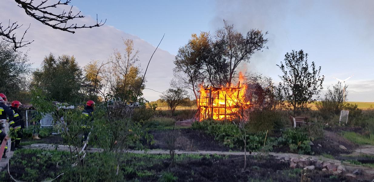 Wybuch butli z gazem! Altanka spłonęła doszczętnie.