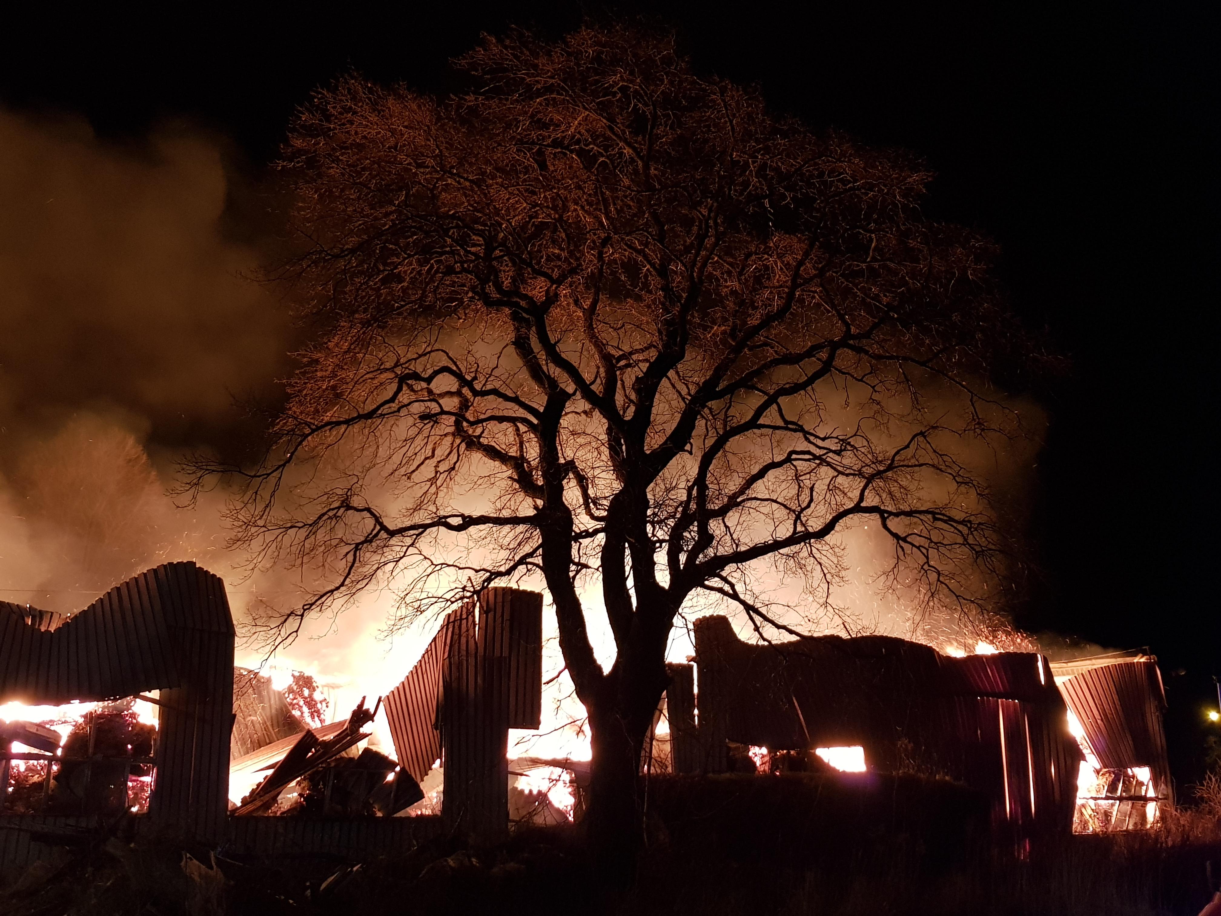 Ogromny pożar w Białogardzie! Przyczyną może być podpalenie. Foto Video!