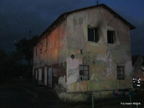 Pożar budynku mieszkalnego w Białogórzynie