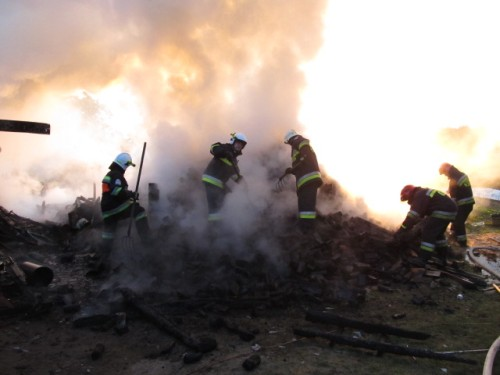 Pożar w Rarwinie - ZDJĘCIA
