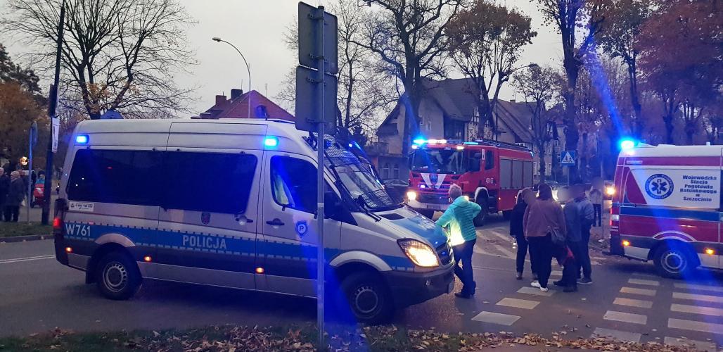 Wypadek drogowy w centrum Białogardu