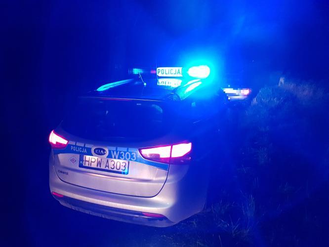 Kompletnie pijany kierowca Forda wjechał do rowu - trafił do policyjnego aresztu.
