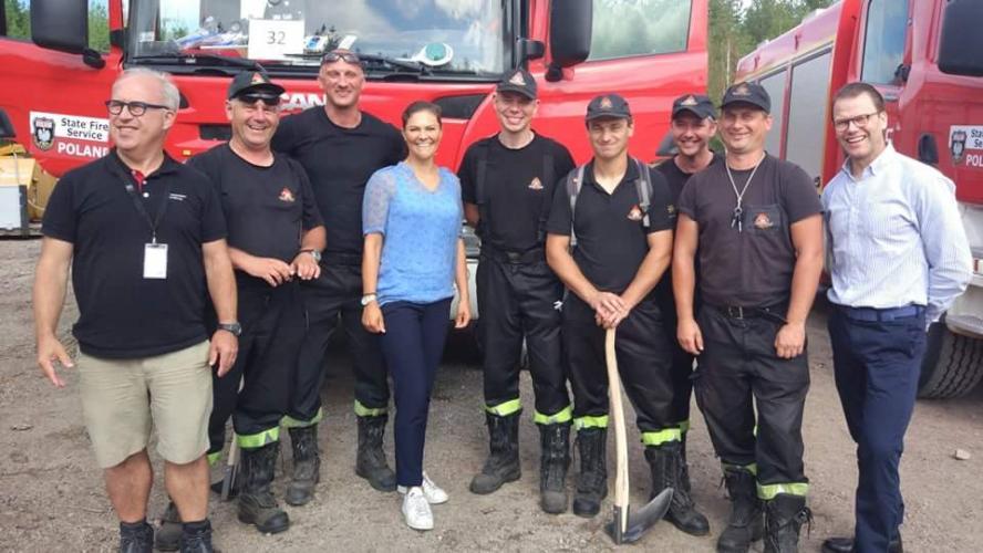 Księżna Szwecji odwiedziła naszych strażaków!