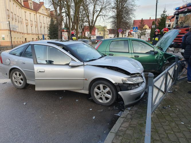 Wypadek w centrum Białogardu  - kobieta ukarana mandatem karnym.