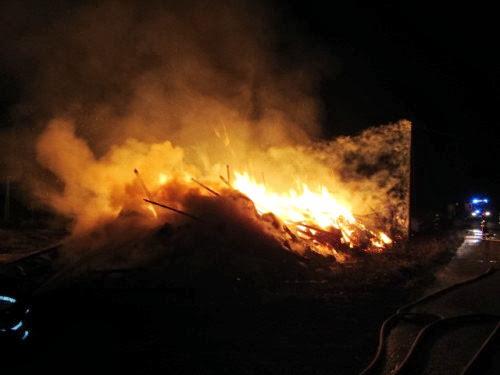 Pożar w Modrolesie koło Białogardu