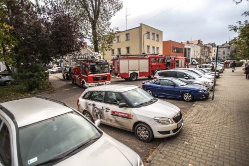 Pożar na ul. Lelewela w Białogardzie