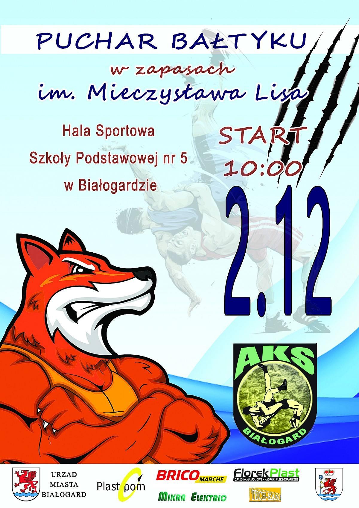 MIĘDZYNARODOWY PUCHAR BAŁTYKU w zapasach im. Mieczysława Lisa