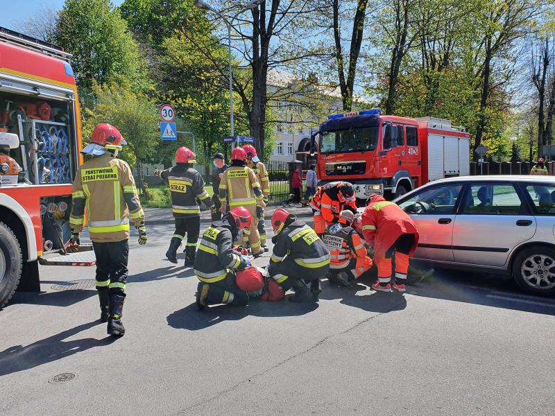 Potrącenie rowerzysty w Białogardzie - 83 latek trafił do szpitala.