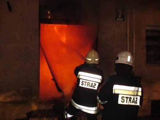 Pożar w Karlinie