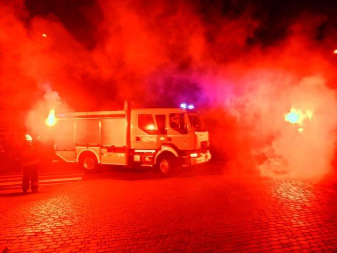 Powitanie nowego wozu ratowniczo gaśniczego w OSP Tychowo