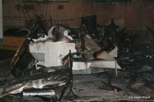 Pożar przyczepy kempingowej w Koszalinie