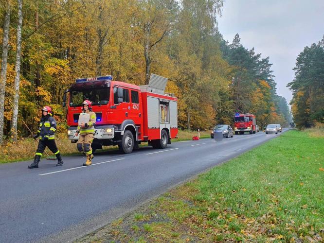 Potrącenie motorowerzysty pod Białogardem na dw 163