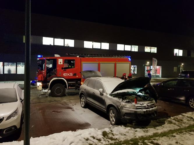 Pożar auta w Białogardzie
