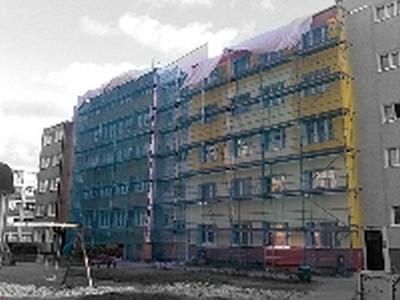 Remont bloków na ul. Piastów