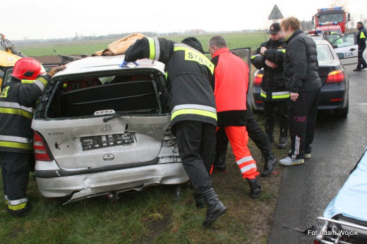 Wypadek koło Lulewic.