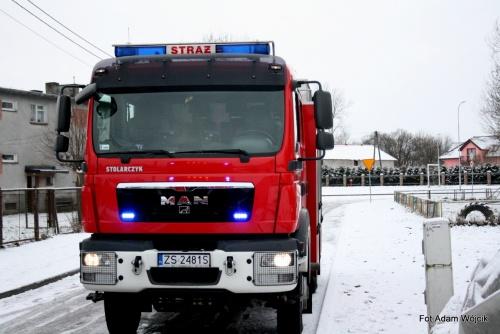 Pożar szopy w Lubiechowie