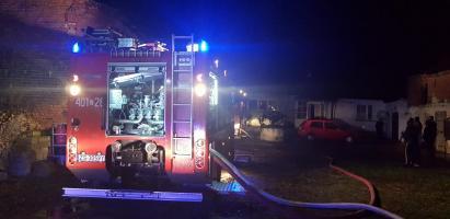 Pożar domu jednorodzinnego w Klępinie Białogardzkim.