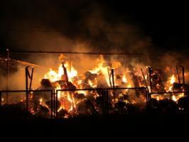 Pożar w Pomianowie - ZDJĘCIA