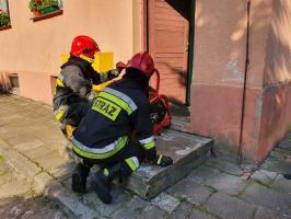 Pożar pieca gazowego w budynku wielorodzinnym!