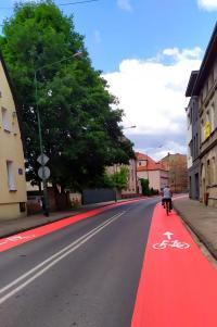 Pasy ruchów dla rowerów w Białogardzie