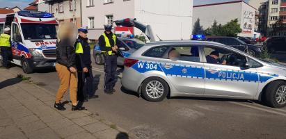 Potrącenie w Białogardzie - kierowca stracił uprawnienia.