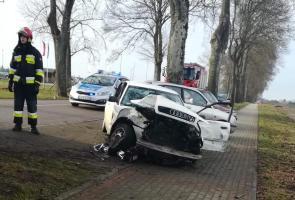 Wypadek drogowy w Tychowie