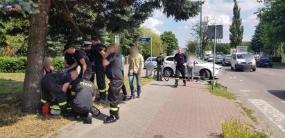 Potrącenie rowerzysty w Białogardzie - poszkodowany trafił do szpitala.
